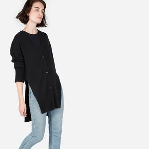 Everlane small black wool cashmere cardigan